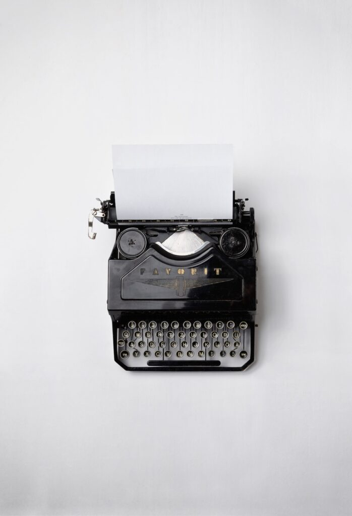 typewriter to write an academic essay