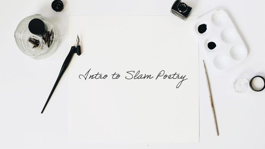 Virtual learning course on slam poetry