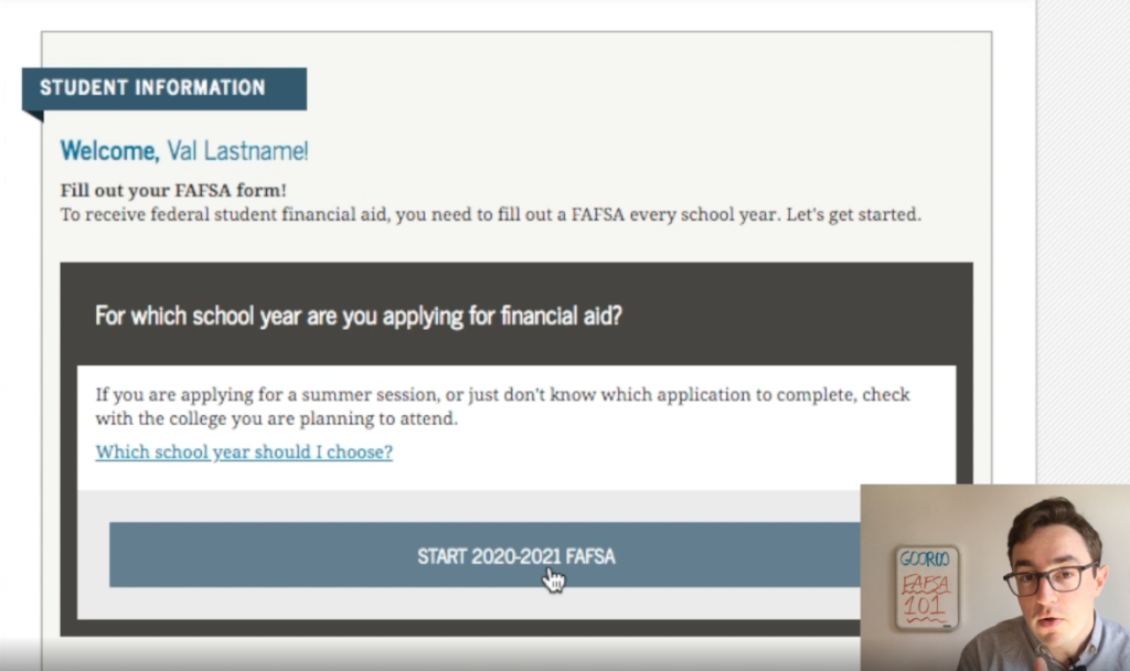 Gooroo Sam shares how to get the money for college by completing your FAFSA