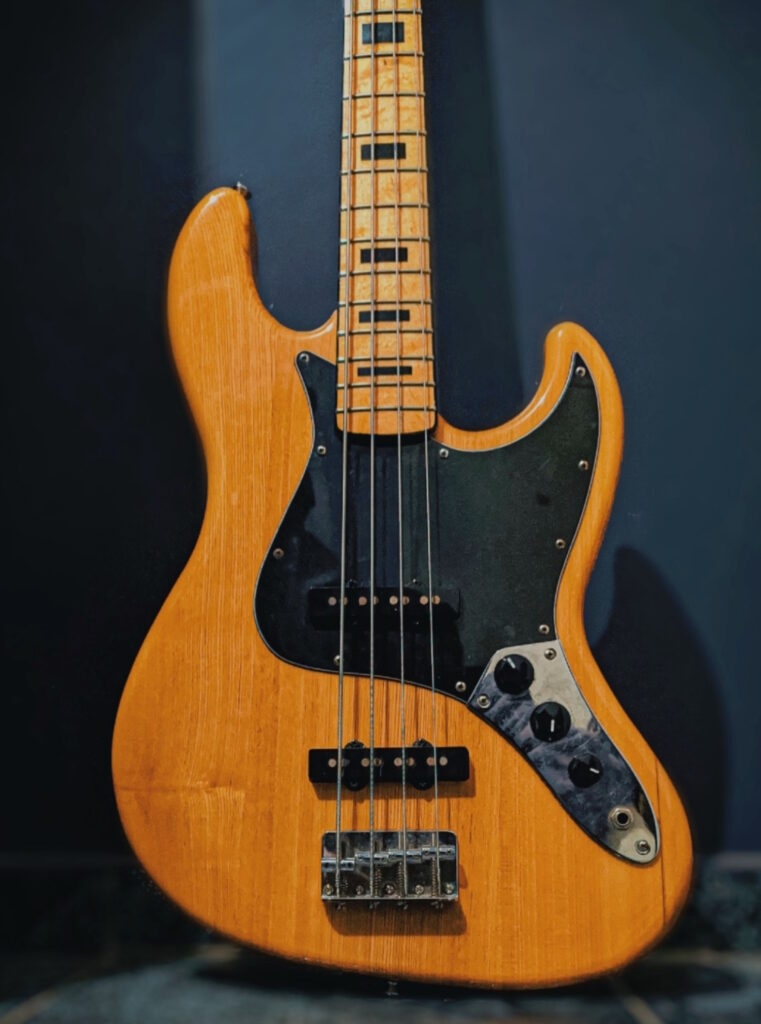 The most common bass guitar is the four-string electric bass