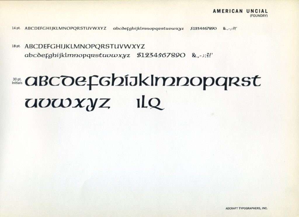 Uncial style
